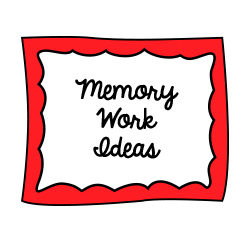 MEMORY Work Ideas